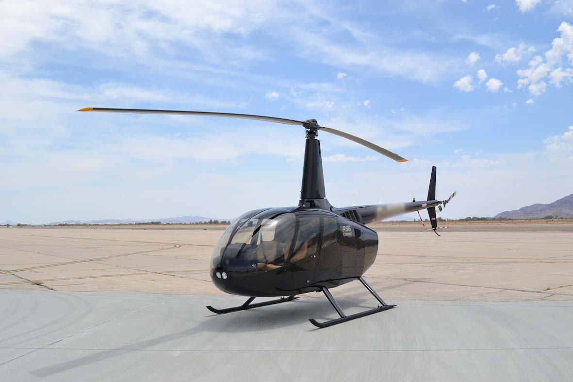 r66 black and gold : Aerial Recon Ltd   Robinson Helicopter